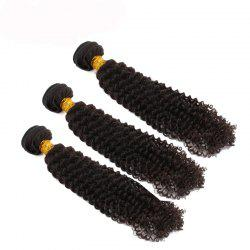 3pcs / lot 6A Brazilian Virgin Hair Kinky Curly Extension Human Hair Weave -