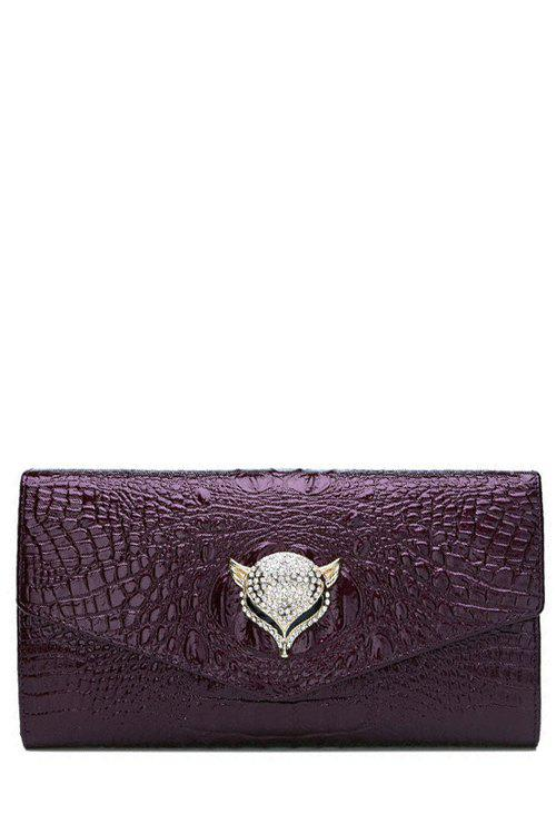 Latest Fashion Rhinestones and Print Design Women's Clutch Bag