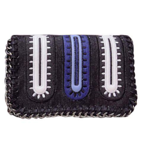 Fashion Stylish Color Matching and Chains Design Women's Crossbody Bag