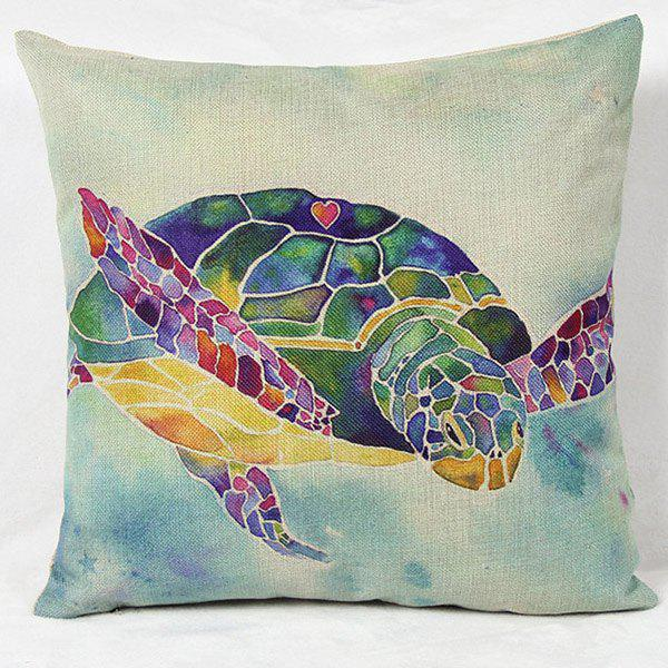 Fancy Charming Colorful Cartoon Animal Printed Square New Composite Linen Blend Pillow Case