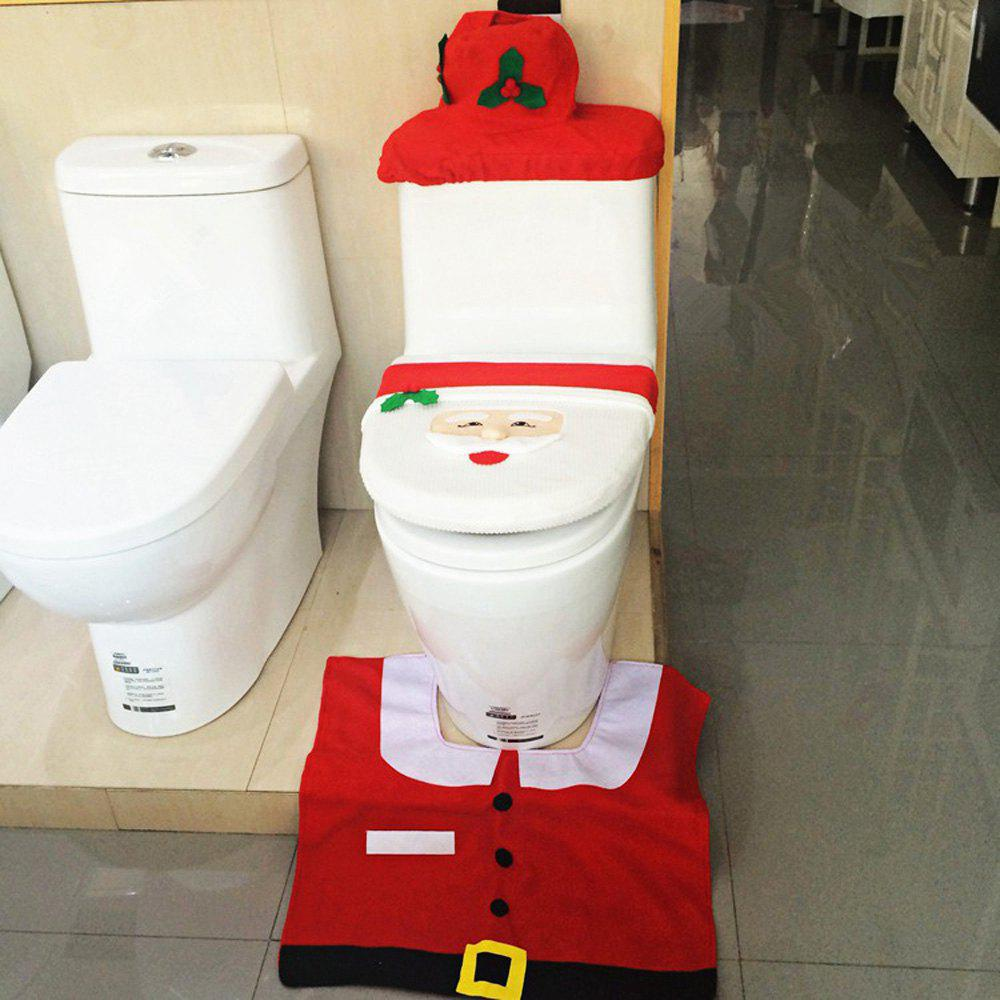 Bathroom Toilet Seat Cover And Rug Set Decoration For