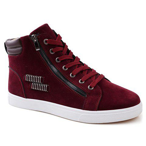 Fancy Fashionable Lace Up and Metal Design Men's Casual Shoes