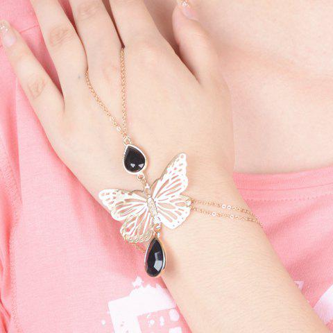 Delicate Waterdrop Butterfly Bracelet Women DESCRIPTION