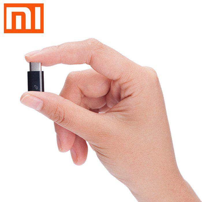 Original XiaoMi USB Type-C Male to Micro USB Female Connector for Home / OfficeHOME<br><br>Color: BLACK; Brand: Xiaomi; Type: Adapter; Material: ABS; Interface: Micro USB,USB-C; Available Color: Black;