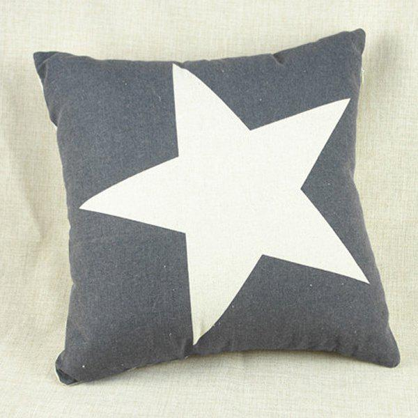 Modern Square Pillow Pull : Grey/white Modern Square Star Pattern Decorative Pillowcase (without Pillow Inner) RoseGal.com