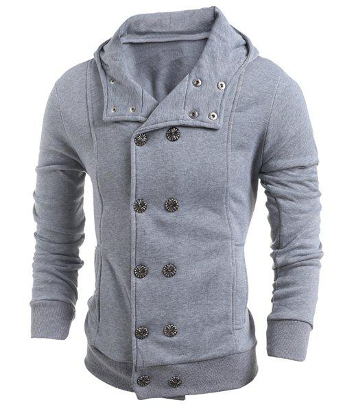 Best Turn-Down Collar Double-Breasted Long Sleeve Thicken Men's Jacket