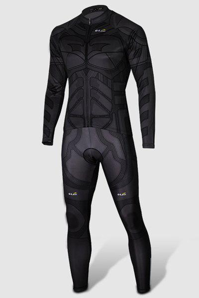 4543693b9 Outfit Close-Fitting Stand Collar Batman Costume Long Sleeve Men s Cycling  Suit (Jacket+
