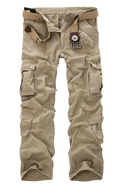 Outfits Multi Pockets Straight Leg Military Cargo Pants