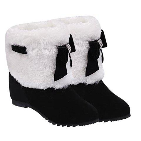 Chic Wedge Heel Furry Snow Boots