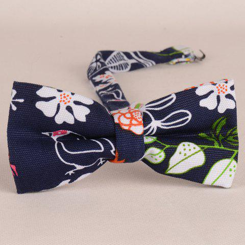Sale Stylish Hand Painted Flower Bird Leaf Pattern Bow Tie For Men