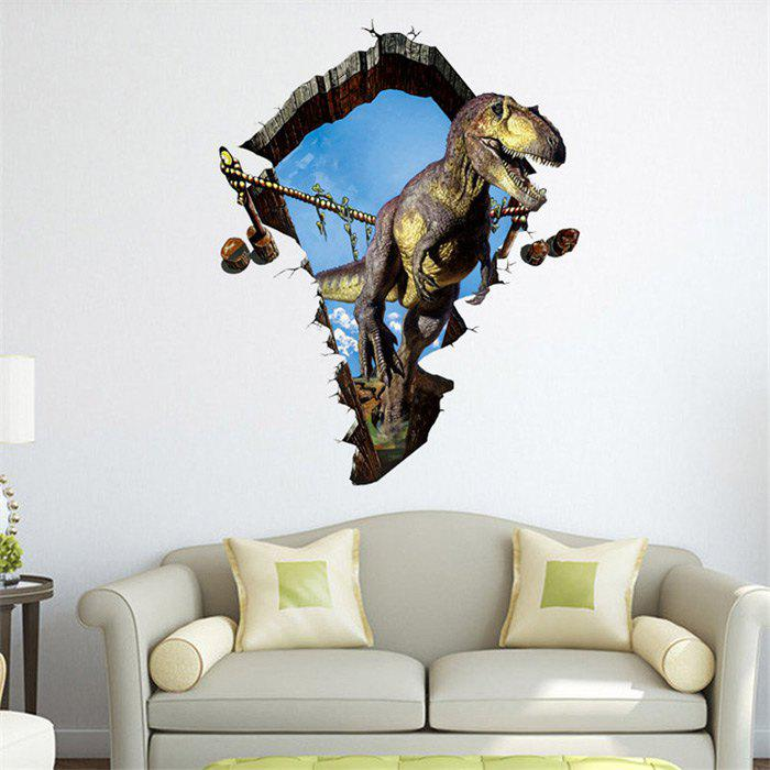 3D Dinosaur Style Removable Wall Stickers Colorful Room Window Decoration for Bedroom StoreHOME<br><br>Size: SIZE 2; Color: AS THE PICTURE; Subjects: Animal; Art Style: Plane Wall Stickers,Toilet Stickers; Sizes: 60 x 90cm; Features: Removable / Water Resistance; Functions: Decorative Wall Stickers; Hang In/Stick On: Bathroom,Living Rooms,Bedrooms,Nurseries,Offices,Cafes,Hotels,Toilet,Stair,Lobby,Kids Room; Material: Vinyl(PVC);
