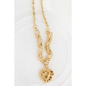 Graceful Solid Color Heart Shape Hollow Out Sweater Chain For Women -