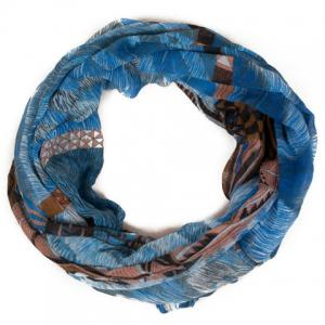 Chic Triangle and Fur Pattern Multicolor Voile Scarf For Women -
