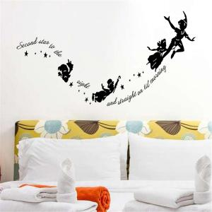 Personalized Cartoon Carve Style Removable Wall Stickers for Room Window Decoration -