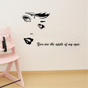 Character Head Portrait Style Removable Wall Stickers for Room Window Decoration -
