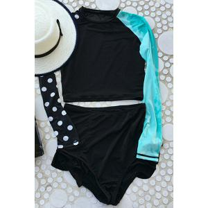 Stylish Women's Color Block Two-Piece Swimsuit -
