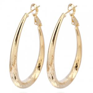 Pair of Vintage Engraved Oval Earrings
