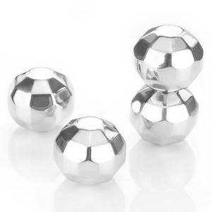1PCS Environmental 304 Stainless Steel Polygon Ball Ice Hockey for Drinks -