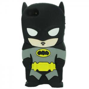 3D Cool Character Comics Batman Silicone Shockproof Protective Case for iPhone 6 / 6S - BLACK
