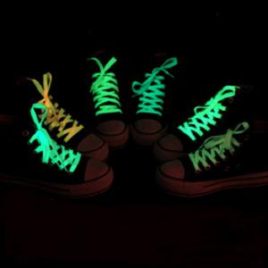 Creative LED Fluorescent Shoelaces Drôle Luminous Yarn Shoes Laces- 80cm -