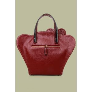 Vintage Cheongsam Shape and Embossing Design Women's Tote Bag - WINE RED