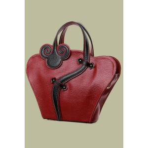 Vintage Cheongsam Shape and Embossing Design Women's Tote Bag -