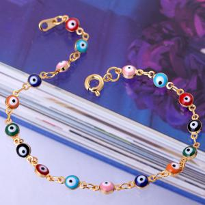 Characteristic Faux Eyes Beads Bracelet For Women - COLORFUL