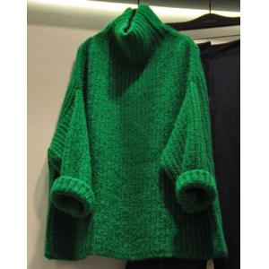 Chic Turtleneck Candy Color Long Sleeve Sweater For Women