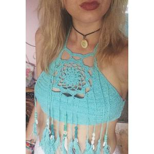 Crochet Tassels Crop Tank Top