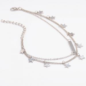 Layered Star Shape Charm Anklet -
