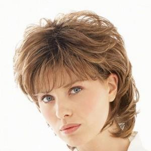 Elegant Medium Full Bang Capless Fashion Fluffy Curly Brown Mixed Synthetic Wig For Women -