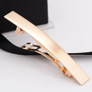 Simple Style Solid Color Glaze Hairgrip For Women - GOLDEN