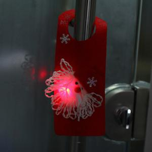 LED Flashing Snowman Doorknob Drop for Christmas Decoration - RED