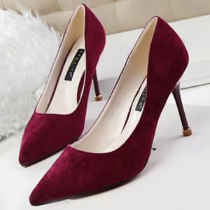 Office Style Pure Colour and Stiletto Heel Design Women's Pumps -