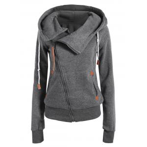 Casual Style Solid Color Long Sleeves Hoodie For Women