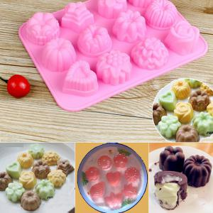Silicone Flower and Grass Design DIY Baking Mold Cake / Biscuit Manual Tool -