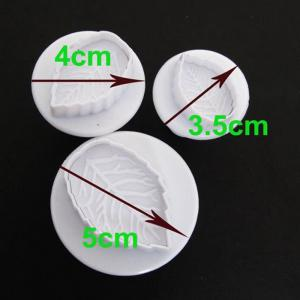 3PCS Silicone Leaf Style DIY Baking Mold Cake / Biscuit Manual Tool Set Easy Kitchen -