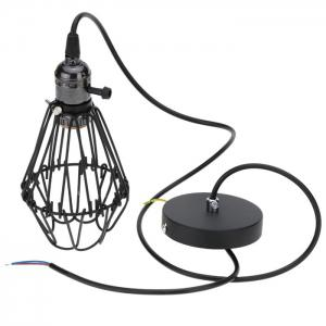 E27 Industrial Retro Iron Cage Pendant Light Holder -