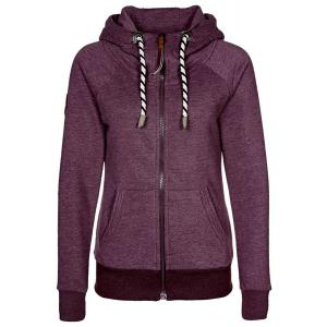 Chic Long Sleeve Solid Color Pocket Hooded Hoodie For Women