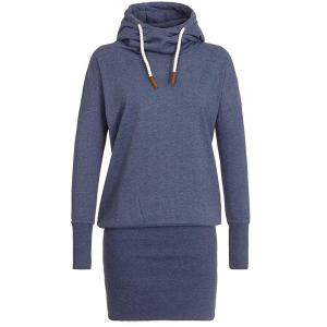 Stylish Hooded Long Sleeve Women's Hoodie Dress