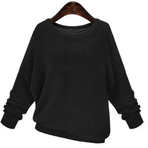Stylish Jewel Neck Long Sleeve Lace Splicing Bowknot Embellished Sweater For Women -