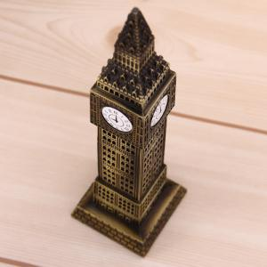BIGBEN Bell Metal Clock Tower Model Home Office Decorations -