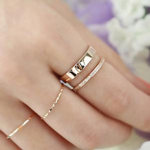 Rhinestone Hollow Out Two Layered Cuff Ring