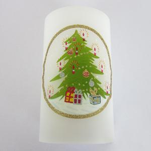 3pcs romantic wireless remote control color changing christmas tree pattern led candle light - Remote Control Christmas Tree