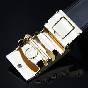 Stylish Arrow Shape Embellished Auto Buckle Wide Belt For Men -