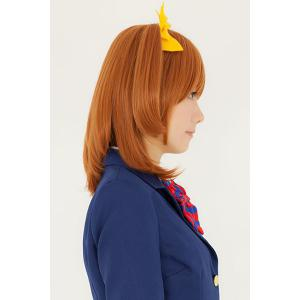 Sweet Medium Light Brown Fashion Natural Straight With Ponytail Honoka Kousaka Style Cosplay Wig -