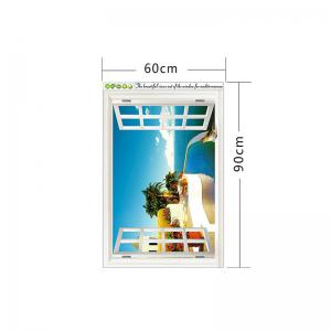 Beautiful 3D Seascape Style Removable PVC Wall Stickers Colorful Room Window Decoration -