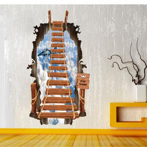 Beautiful 3D Stairs Style Removable PVC Wall Stickers Colorful Room Window Decoration