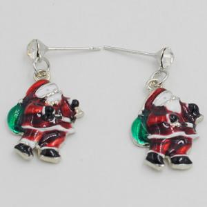 Pair of Cute Santa Claus Shape Christmas Earrings Jewelry For Women -