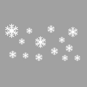 ... Sweet Snowflake Pattern Vinyl Wall Decal Stickers Christmas Decoration  ...